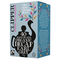 HERBATA EARL GREY BEZKOFEINOWA FAIR TRADE BIO 88 g (40 x 2,2 g) - CLIPPER